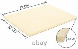 Rectangular Cordierite Pizza Baking Stone for Oven Durable Thermal Shock Resist
