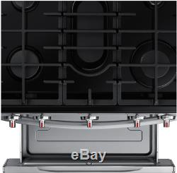 Samsung Gas Range with Self-Cleaning Oven in Stainless Steel