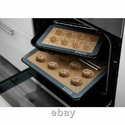 Set of 4 Silicone Non Stick Baking Mat Sheet Tray Oven Liner Rolling Cake Mat