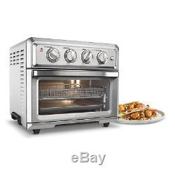 Small Convection Toaster Oven Broiler Air Fryer Bake Broil Toast Cuisinart New