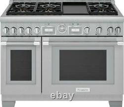 Thermador Pro Grand 48 Inch 6 Sealed Star Burners Pro-Style Gas Range PRG486WDG