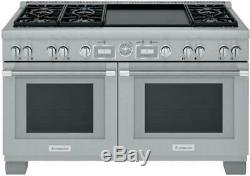 Thermador Pro Grand 60'' Home Connect SS Pro-Style Dual Fuel Range PRD606WEG
