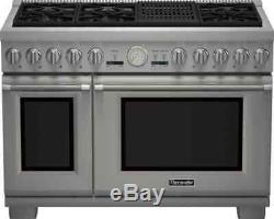 Thermador Pro Grand PRG486NLG 48 Stainless Steel Natural Gas Range withGrill