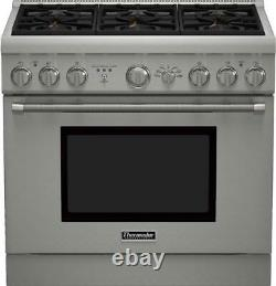 Thermador Pro Harmony Series PRD366GHU 36 Stainless Steel Dual Fuel Range