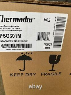 Thermador Pso301m 30 Single Steam Convection Wall Oven