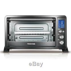 Toshiba Digital 6-Slice Black Convection Toaster Oven