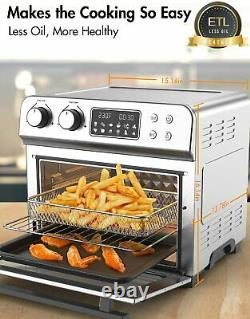 Ultra Large Air Fryer Convection Toaster Oven 24 Quart/6 Slices 1700W 150-450