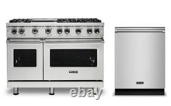 Viking 48 Pro Gas Range with Griddle and Free Dishwasher VGR5486GSS