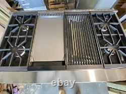 WOLF DF484-CG 48 DUAL FUEL RANGE 4 BURNERS WithINFRARED CHARBROILER+GRIDDLE