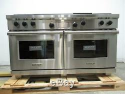 Wolf 60 4.5 cu. Ft 4 Sealed Burners French Top Pro-Style Dual-Fuel Range DF604GF