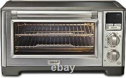 Wolf Gourmet WGCO170SR Elite Countertop Oven with Stainless Steel and Black Knobs