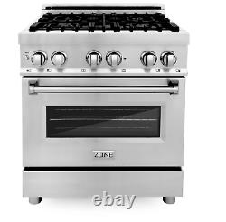 ZLINE 30 4.0 cu. Ft. Dual Fuel Range with Gas Stove and Electric Oven RA-30 (LN)