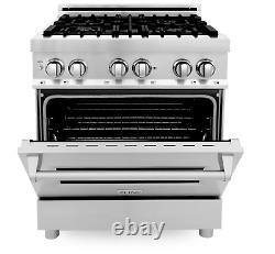ZLINE 30 Range with Gas Stove and Gas Oven in Stainless Steel (RG30) (LN)
