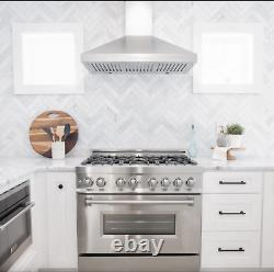ZLINE 36 Dual Fuel Range with Gas Stove and Electric Oven in Stainless LN RA-36