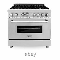 ZLINE 36 Dual Fuel Range withGas Stove and Electric Oven in Stainless RA-36