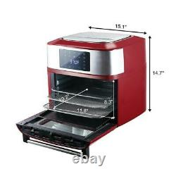 Zokop 1800W Air Fryer 16L Toaster Oven Rotisserie Dehydrator 6 Accessories Red
